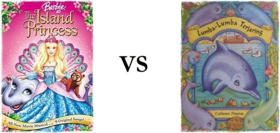 "Barbie as the Island Princess"" VS BUKU ""Lumba-lumba Terjaring"