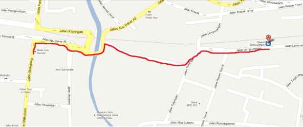 Peta Lempuyangan-Malioboro