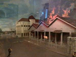 Diorama kebakaran